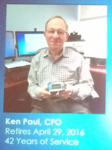 Congratulations to Ken Paul on his 42 years of outstanding service to IREM!