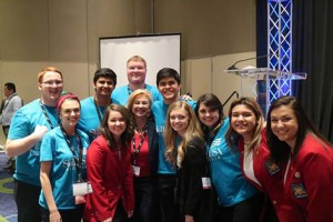Dr. Debbie helps out at the SkillsUSA Championship
